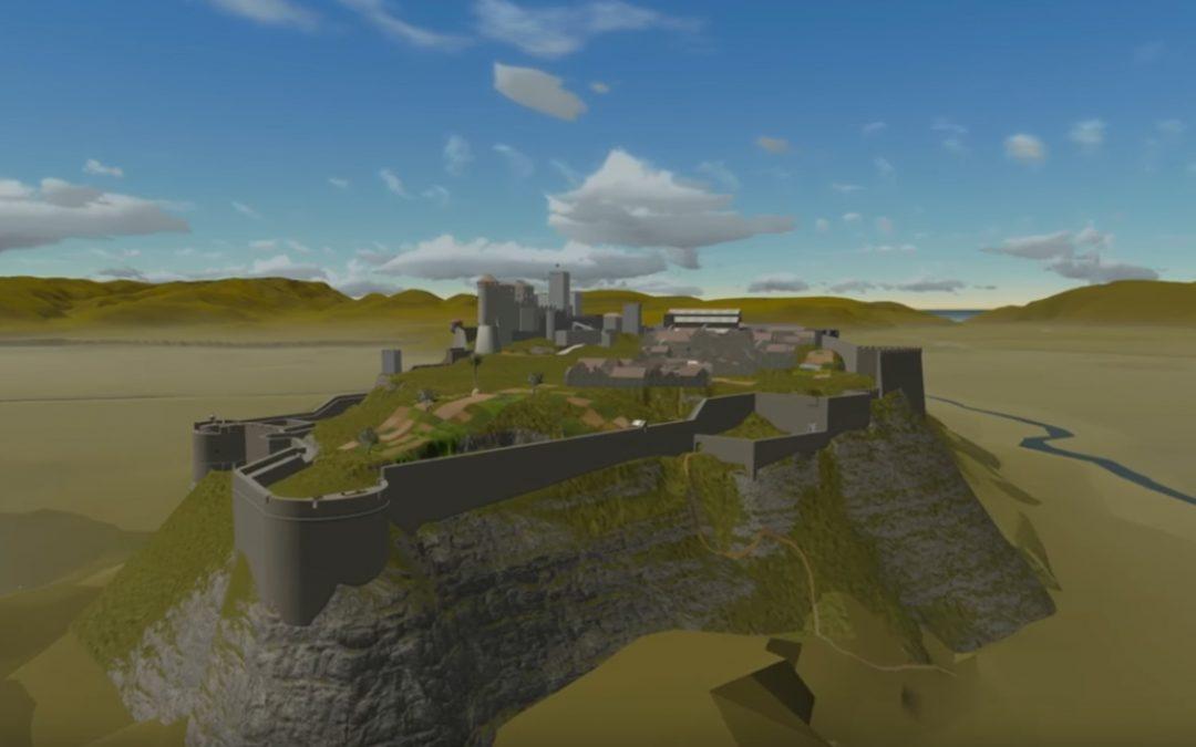 Modélisation en 3D de l'ancienne forteresse de la maison de Savoie