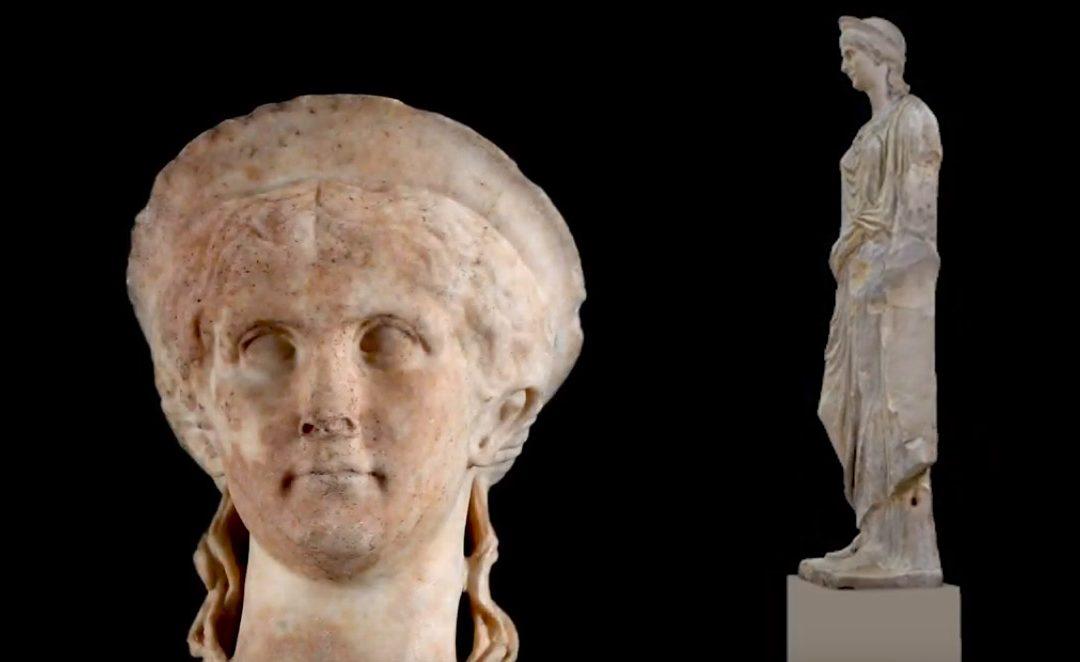 La statue d'Antonia