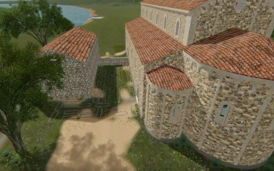Reconstitution en 3D – Le cimetière de la Colline du Château