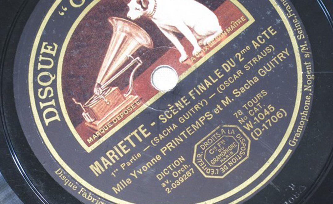 Sacha Guitry et sa compagne Yvonne Printemps interprétant Mariette, partie 1