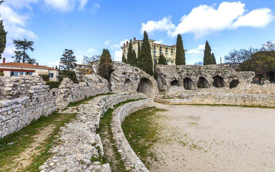 L'amphithéâtre de Cimiez en  vidéo 360°