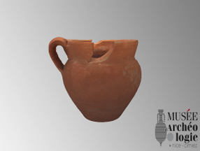Pot à anse découvert dans Nécropole du Piol de Cimiez