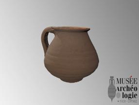 Pot à anse découvert dans la Nécropole du Piol de Cimiez