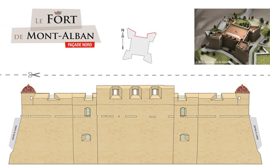 Construit la maquette du Fort du Mont-Alban !