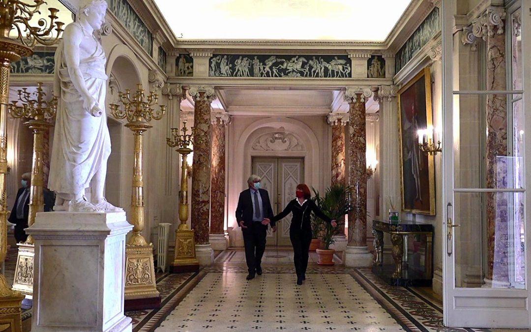 Visite avec Muriel Mayette de l'exposition « Nice et le Second Empire »
