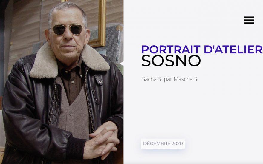 Portrait d'atelier Sosno Sacha S. par Mascha S.