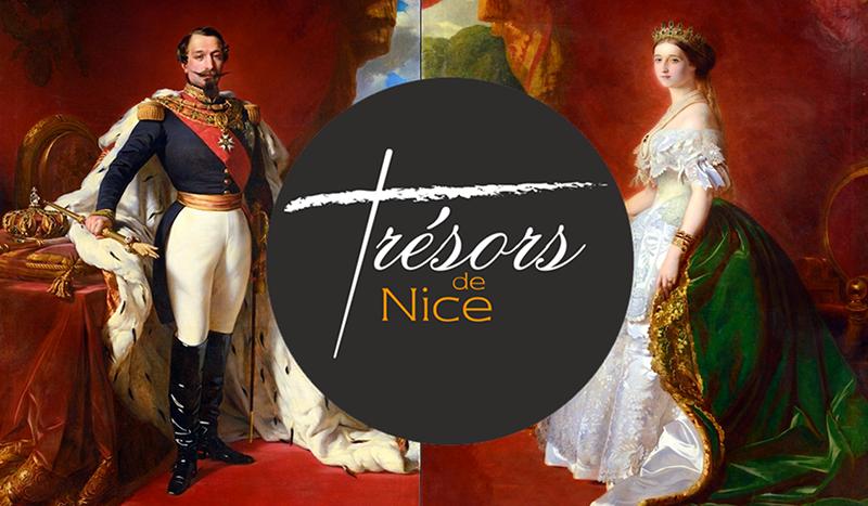 Zoom «Trésors de Nice» les portraits de l'empereur Napoléon III et de l'impératrice Eugénie