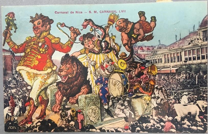 Carnaval « Roi du Cirque» en 1935