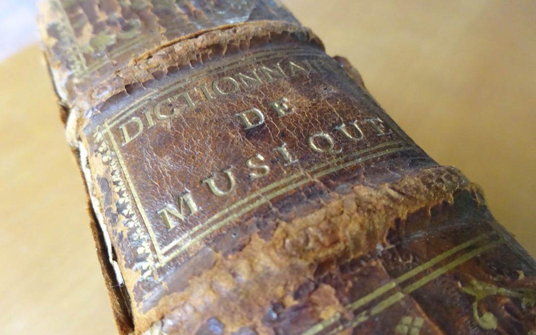 Le Dictionnaire de Musique de Jean-Jacques Rousseau