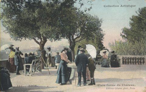 Touristes de la belle époque à Nice